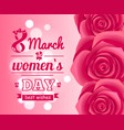 international womans day holiday on eight of march vector image vector image