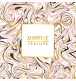 marble texture gold pink black and white marble vector image