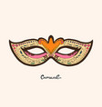masquerade colorful masks isolated on white vector image