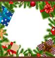 merry christmas border vector image