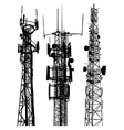 Mobile phone masts vector image vector image