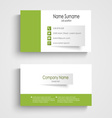 Modern green business card template vector image vector image