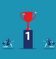 number one competition business marketing vector image vector image