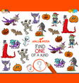 one of a kind game with halloween characters vector image vector image