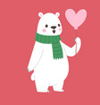 polar white bear animal cute beauty vector image vector image
