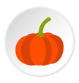 pumpkin icon circle vector image vector image