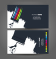 roller in hand concept business card vector image vector image