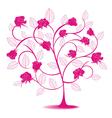 rose flowering tree vector image vector image