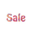 sale sign season sale icon colorful tag vector image vector image