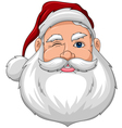 Santa Wink Face Front vector image vector image
