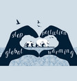 save polar bears concept global warming vector image