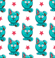 Seamless pattern with cartoon dog vector image vector image