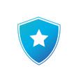 security shield with star icon superhero logo vector image