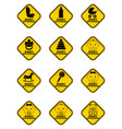 set of baby on board signs with baby symbol in vector image vector image