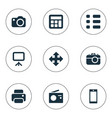 set of simple digital icons vector image vector image