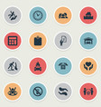 set of simple guarantee icons vector image