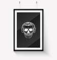 skull with moustaches and beard vector image vector image