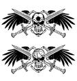 soccer basketball skulls vector image vector image