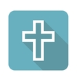 Square christian cross icon vector image vector image