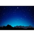 star sky mountains vector image