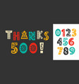thanks 500 followers likes hand written lettering vector image vector image