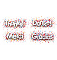 Thanks paper cards vector image