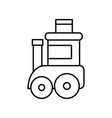 toy kids train wagon on white background thick vector image