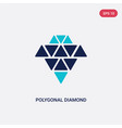two color polygonal diamond shape small vector image vector image
