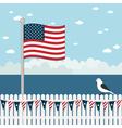 usa coastal scene vector image vector image