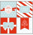 Vintage Christmas Tags or Cards vector image