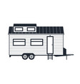 wheeled tiny house - trailer hovel off grid vector image vector image