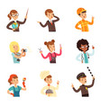 young men and women of different professions set vector image vector image