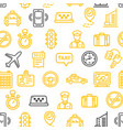 taxi services pattern background vector image