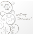 White christmas card or background vector image