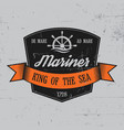 mariner label poster vector image