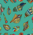 Sea Shell Pattern Background vector image