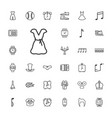 33 classic icons vector image vector image