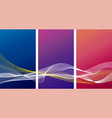 abstract banner background design vector image