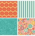 abstract decorative circles set of four vector image vector image