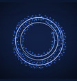 abstract ring background with luminous particles vector image