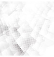 abstract white and gray geometric hexagons shapes vector image vector image