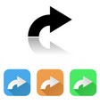 arrow icon colored set of right arrow signs vector image