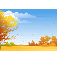 Autumn day vector image vector image