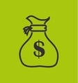 bag money yellow design vector image
