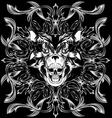 bear skull pattern vector image vector image