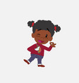 black girl with a unicorn pullover doing the ok vector image