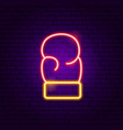 boxing neon sign vector image