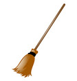 broom on white background vector image vector image