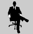 business man black and white 13 vector image vector image