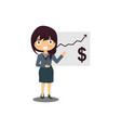 business woman at a presentation vector image